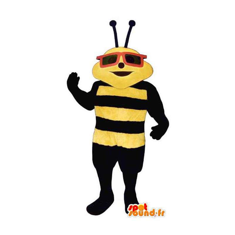 Black and yellow bee mascot glasses - MASFR006780 - Mascots bee