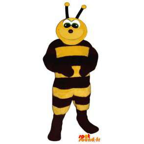 Mascot black and yellow bee. Bee Costume - MASFR006784 - Mascots bee