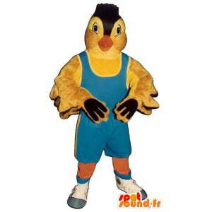 Yellow Bird Mascot sininen asu painija - MASFR006791 - maskotti lintuja