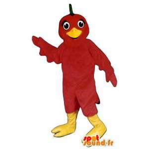 Giant red bird mascot. Bird costume - MASFR006797 - Mascot of birds