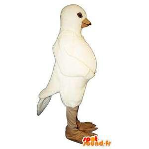 Valkoinen kyyhkynen maskotti. Pigeon Suit - MASFR006808 - maskotti lintuja