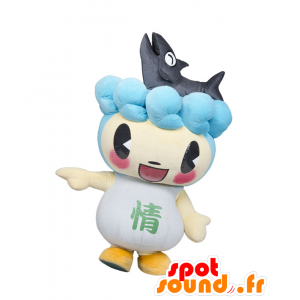Sakerin mascotte, pupazzo di neve con le onde e pesce nero - MASFR25632 - Yuru-Chara mascotte giapponese