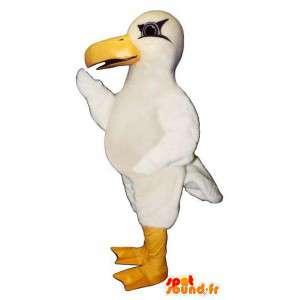 Mascot gaivota branca gigante. Costume Seagull