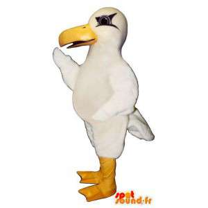 Mascotte reusachtige witte zeemeeuw. Seagull Costume