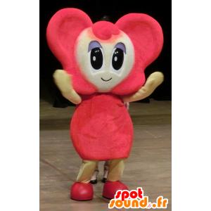 Mascotte del mouse, ragazzo di colore rosa con le grandi orecchie - MASFR25653 - Yuru-Chara mascotte giapponese
