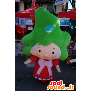 Fukushima-chan mascotte, ragazza, con i capelli verdi - MASFR25660 - Yuru-Chara mascotte giapponese