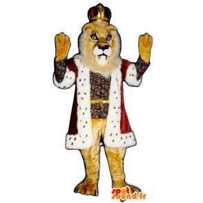 Lion mascot dressed as a king. Costume Lion King - MASFR006815 - Lion mascots