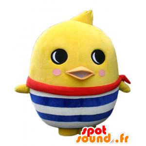 Sicurezza-Kun mascotte, grande uccello giallo, pulcino gigante - MASFR25680 - Yuru-Chara mascotte giapponese