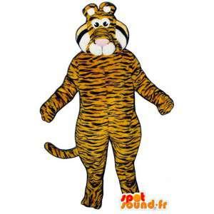 Laranja tigre listrado terno preto