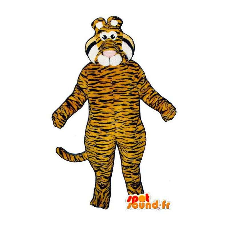 Oranžové tygr pruhovaný černý oblek - MASFR006816 - Tiger Maskoti