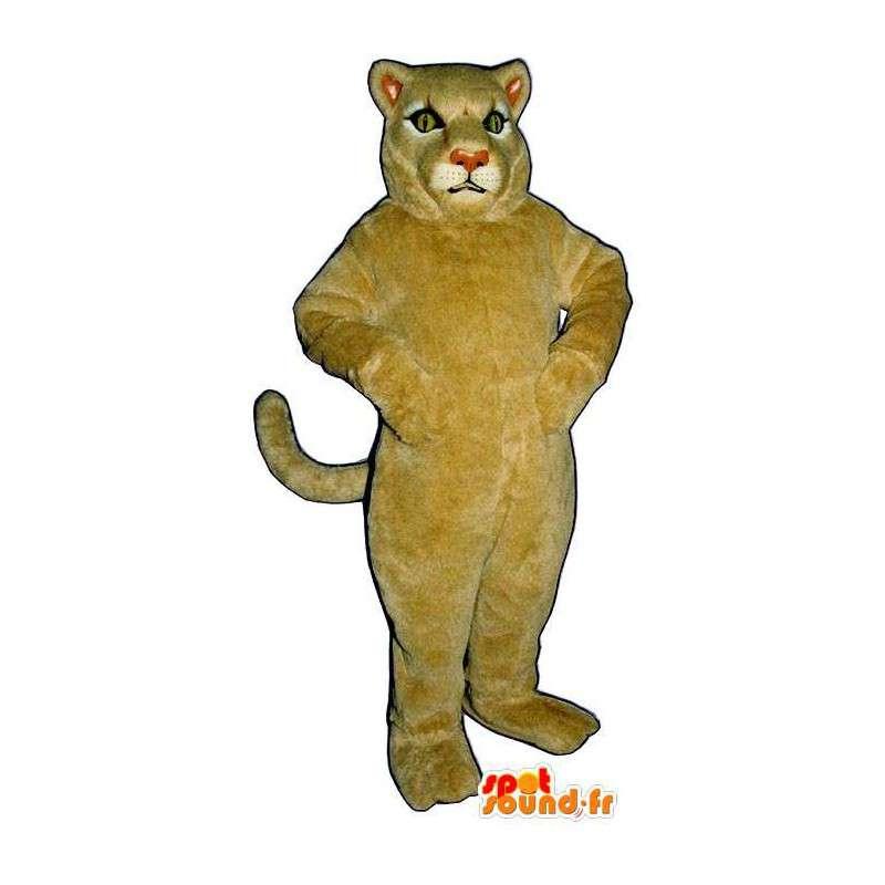 Lion Maskottchen beige.Löwin Kostüm - MASFR006817 - Löwen-Maskottchen