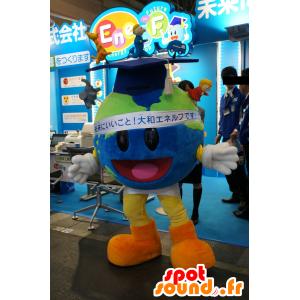 Mascotte tutto mappa del mondo rotondo con un tappo studente - MASFR25710 - Yuru-Chara mascotte giapponese