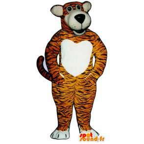 Oranžové tygr pruhovaný černý kostým - MASFR006820 - Tiger Maskoti