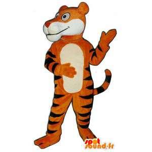 Orange tiger maskot. Tiger kostym - Spotsound maskot
