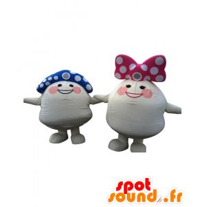 2 mascotte TamaJirou e Tamahime, 2 funghi colorati - MASFR25754 - Yuru-Chara mascotte giapponese