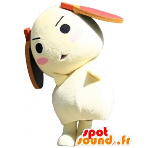 Tama-kun mascotte, cane giallo con racchetta da tennis - MASFR25756 - Yuru-Chara mascotte giapponese