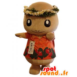 Mascotte Honuppi, carattere fiorito Hawaii - MASFR25769 - Yuru-Chara mascotte giapponese