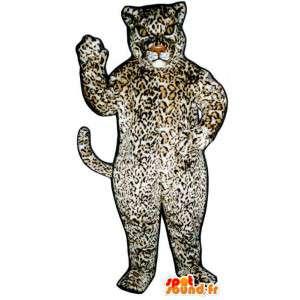 Plysch leopardmaskot. Leoparddräkt - Spotsound maskot