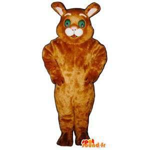 Brun kaninmaskot. Bunny kostym - Spotsound maskot