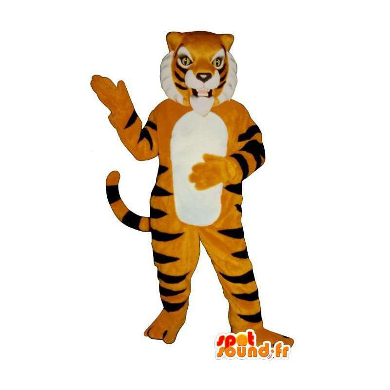 Costume de tigre orange rayé de noir - MASFR006833 - Mascottes Tigre