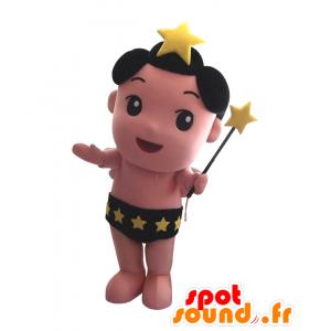 Planetary mascotte Doji, ragazzo, con le stelle e una mutandina - MASFR25855 - Yuru-Chara mascotte giapponese
