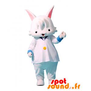 Mascotte Co-nyan, bianco e blu coniglietto, dolce e carino - MASFR25961 - Yuru-Chara mascotte giapponese