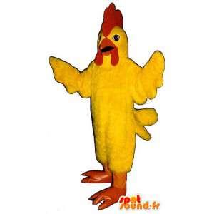 Żółty kogut maskotka gigantyczny rozmiar. żółty kostium koguta - MASFR006850 - Mascot Kury - Koguty - Kurczaki