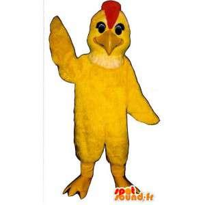Yellow Bird maskotti punainen töyhtö - MASFR006853 - maskotti lintuja