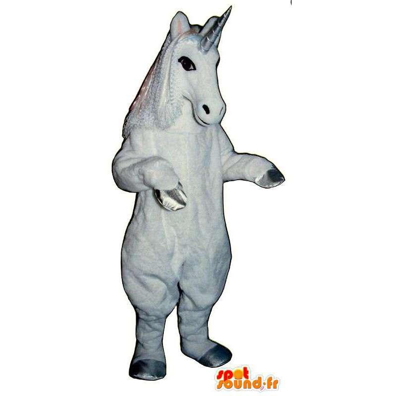 Biały jednorożec maskotka. Unicorn Costume - MASFR006855 - wymarłe zwierzęta Maskotki