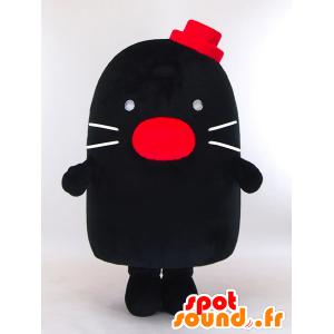 Degimo mascotte, un piccolo neo nero con un cappello rosso - MASFR26005 - Yuru-Chara mascotte giapponese
