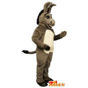 Mascot asno cinzento. Mascote do burro em Shrek