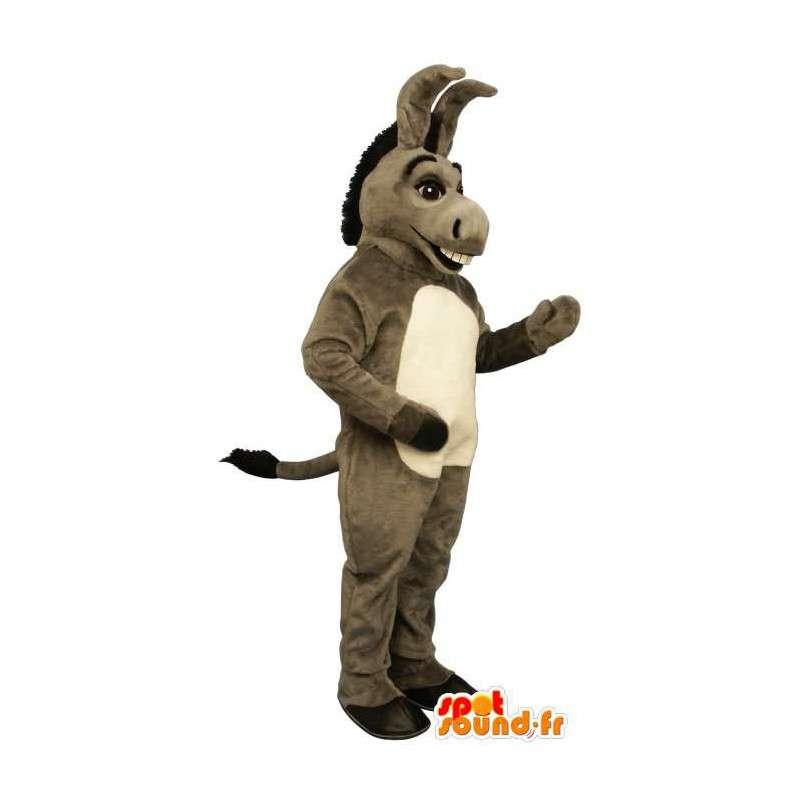 Grå æsel maskot. Maskotæsel i Shrek - Spotsound maskot kostume