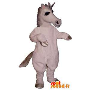 Hvid enhjørning maskot. Unicorn kostume - Spotsound maskot