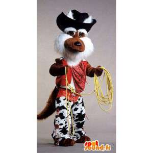 Coyote mascotte vestita da cowboy - MASFR006872 - Umani mascotte