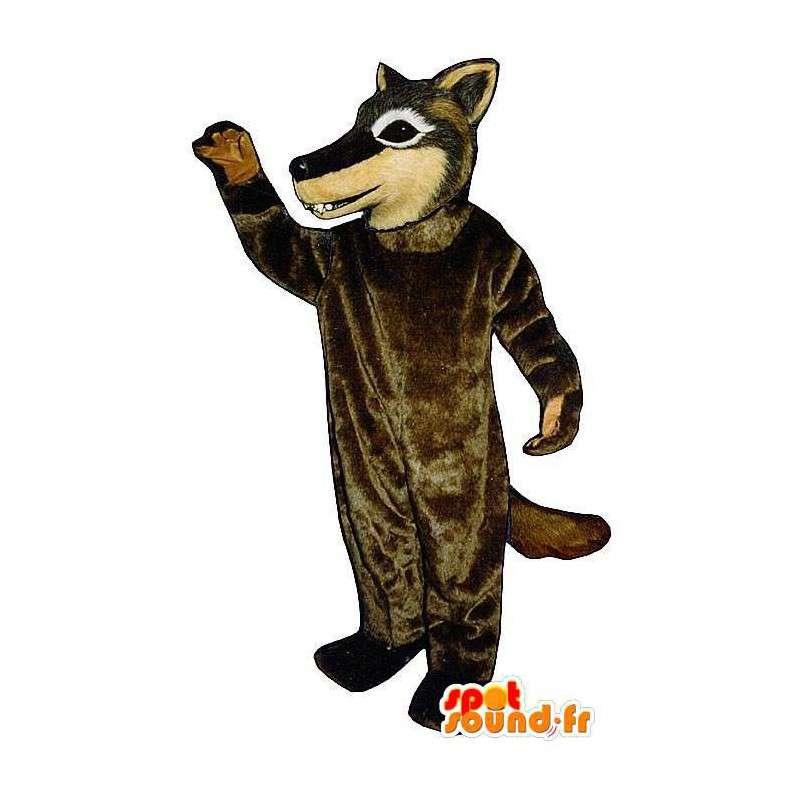 Brown wolf mascot. Wolf Costume - MASFR006873 - Mascots Wolf