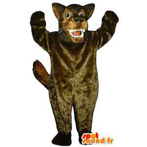Mascot av den store stygge ulven, brun