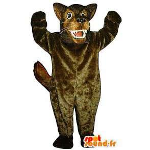 Mascotte del lupo cattivo, marrone - MASFR006874 - Mascotte lupo