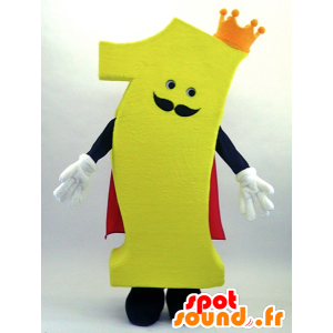 Ichipachikingu mascotte, il numero 1 con mantello e corona - MASFR26074 - Yuru-Chara mascotte giapponese