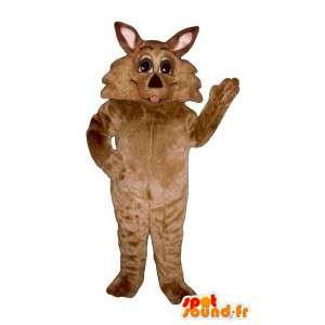 Brązowy pies maskotka. puppy Costume - MASFR006879 - dog Maskotki