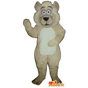 Löwe-Maskottchen beige Plüsch.Lion Kostüm