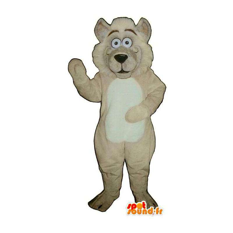 Lion Mascot beige plush. Lion costume - MASFR006880 - Lion mascots