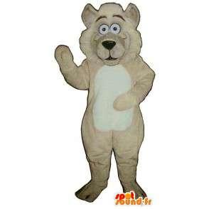 Mascotte de lion beige en peluche. Costume de lion - MASFR006880 - Mascottes Lion