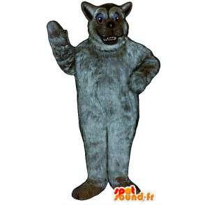 Mascot all hairy gray wolf. Wolf Costume hairy - MASFR006881 - Mascots Wolf