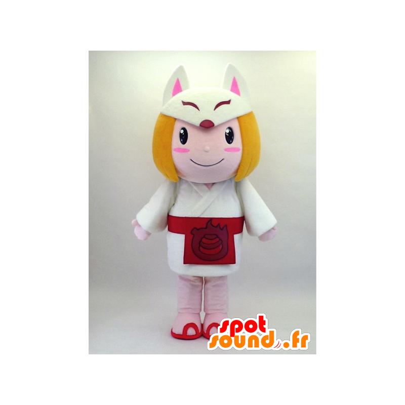 Kitsunemusume chan mascot, a fox girl with costume