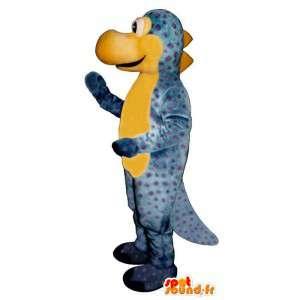 Blauwe en gele draak mascotte. Dragon Costume - MASFR006883 - Dragon Mascot