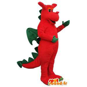 Rød og grønn drage kostyme - Tilpasses Costume - MASFR006884 - dragon maskot