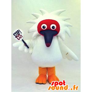 Tomedoki-kun maskot, hvid fugl med et langt næb - Spotsound