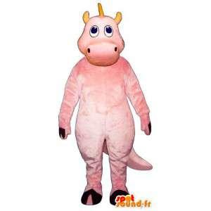 Rosa drago mascotte. Costume rosa Drago - MASFR006896 - Mascotte drago