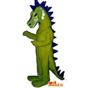 Mascot green and blue dragon. Dragon costume - MASFR006900 - Dragon mascot