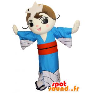 Mascotte Shidori-chan, la principessa con un bel vestito bianco - MASFR26194 - Yuru-Chara mascotte giapponese